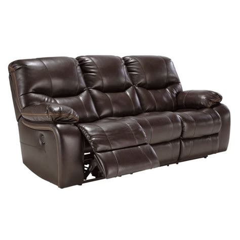 faux leather reclining sofa ashley pranas faux leather power reclining sofa in brindle