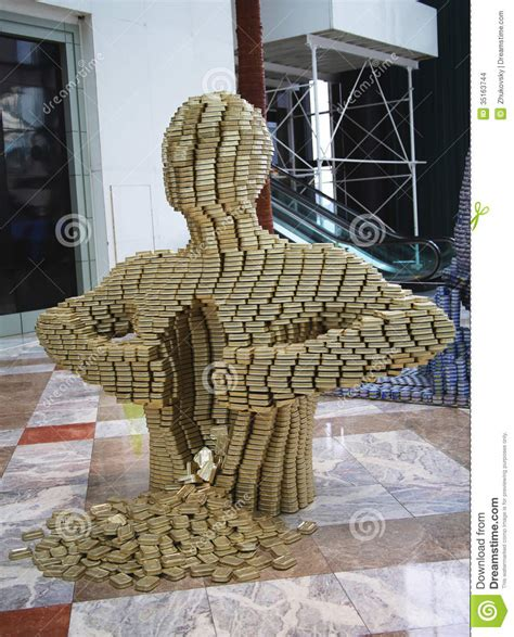 how to build a canned food sculpture quot pour your out quot food sculpture presented at canstruction competition in new york editorial