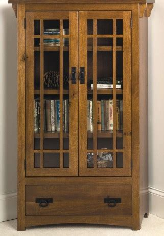 cherrystone furniture mission bookcase with and