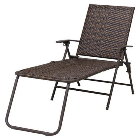 rolston wicker patio folding chaise lounge thr target