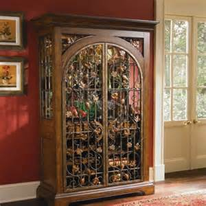Wrought Iron Cabinet Custom Wine Cabinet With Authentic Wrought Iron