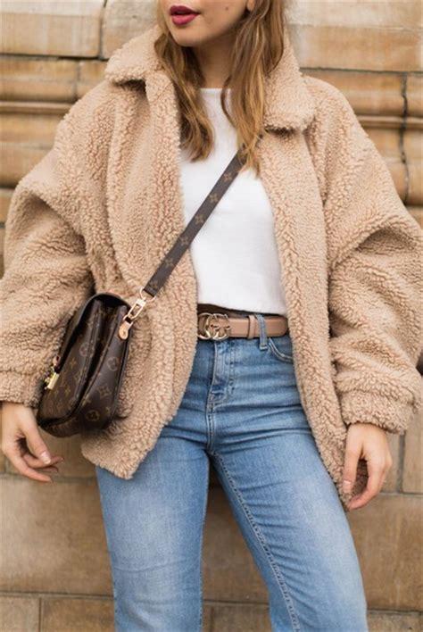 light brown faux fur jacket this fashion