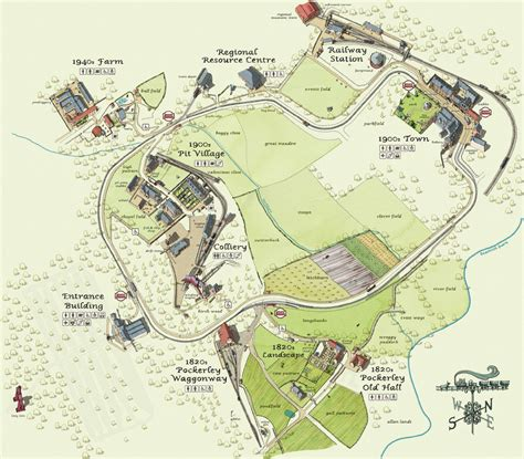 a map of interactive map beamish
