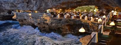 cave resturuant side of a cliff italy puglia restaurants man of the world online destination