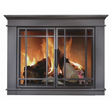 Matheson Masonry Fireplace Doors with Steel welded frame