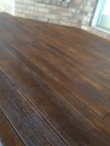 Hardwood Floor On Concrete Decorative Concrete Simulated Wood Deck In Pensacola Florida