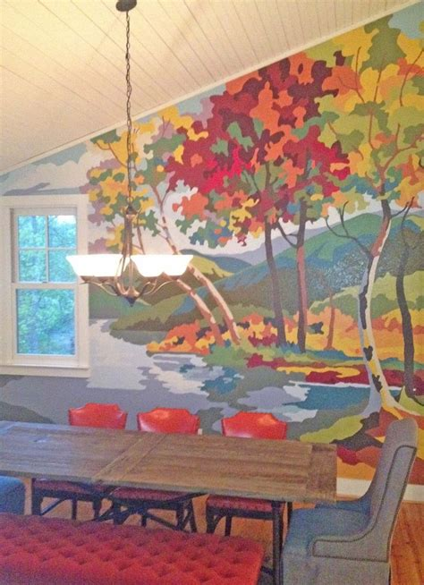 paint by number wall murals paint by numbers mural inspired by two vintage paintings