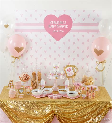 Gold Baby Shower by How To Throw The Cutest Pink And Gold Baby Shower Kate