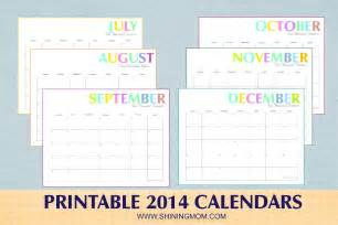 Calendar Template 2014 Free by Shining Printable Calendar Calendar Template 2016