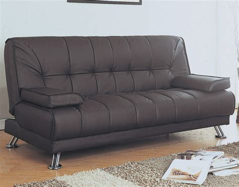 Futon Click Clack by Brown Leather Look Click Clack Futon Modern Furniture