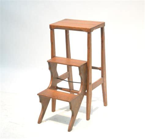 Oak Step Stool by Foldable Oak Step Stool