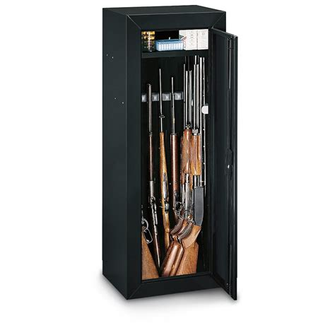 Stack On 174 14 Gun Cabinet With Top Box Black Finish
