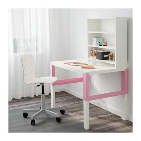 ikea pahl p 197 hl desk with shelf unit white pink 96x58 cm ikea