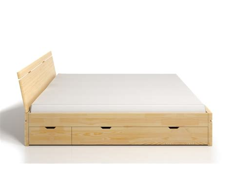letto con cassetti letto in legno sparta in pino con cassetti vivere zen