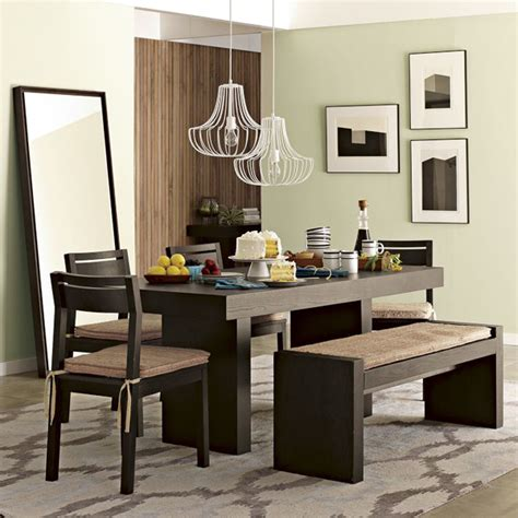 Living Room Dining Table by Charming Living Room Design With Darkwood Dining Table And