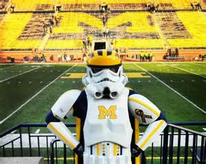 michigan wolverines fan the michigan wolverines biggest fan is a stormtrooper