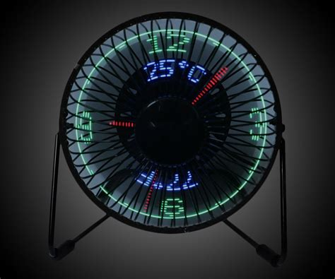 Usb Led Clock Fan usb led clock fan dudeiwantthat