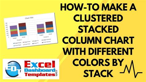 how to make different colors how to make an excel clustered stacked column chart with