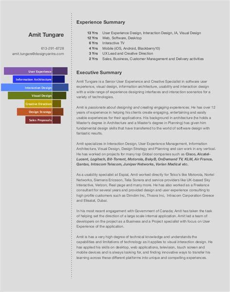 Interactive Designer Sle Resume by Interaction Designer Cv Images