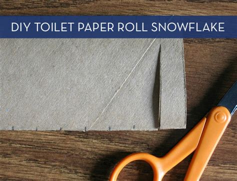 How To Make Out Of Toilet Paper Roll - how to make a beautiful snowflake from a toilet paper