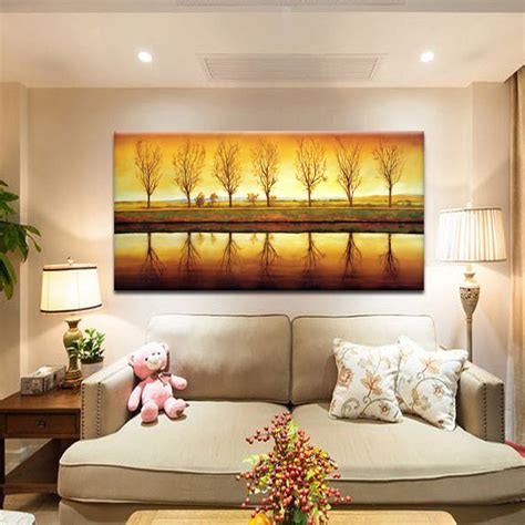 how to paint a sunset on a bedroom wall sunset decorative landscape painting of modern living room