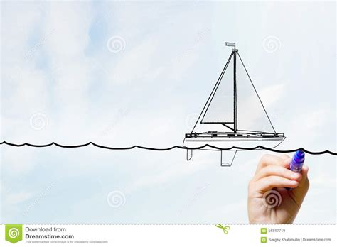 boat drawing activity sketch of sailboat stock image image of activity boat