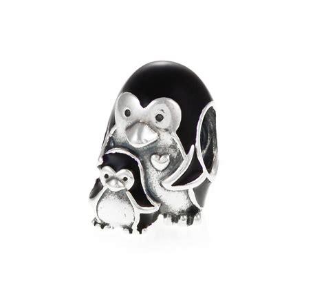pandora penguin family charm 791404en60 greed jewellery