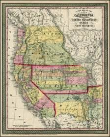 map of oregon and washington state a new map of the state of california the territories of
