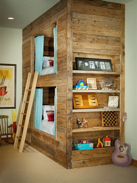 kid bunk bed rustic kids bedrooms 20 creative cozy design ideas