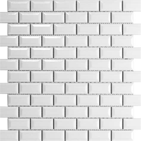 1 X2 Ceramic Tile - 1 quot x2 quot beveled edge mosaic tile for kitchen backsplash