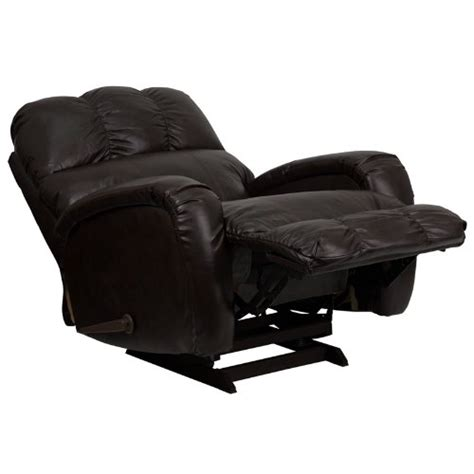 leather rocker brown recliner gaming chair home theater