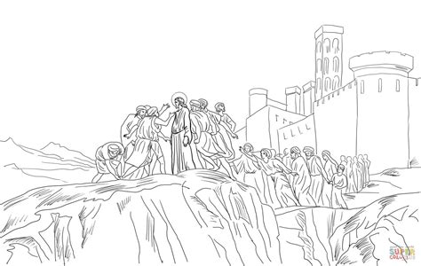 coloring pages of jesus in nazareth jesus rejected in nazareth coloring page free printable