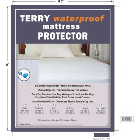 King Koil Waterproof Mattress Protector by Terry Waterproof Mattress Protector King Mattress