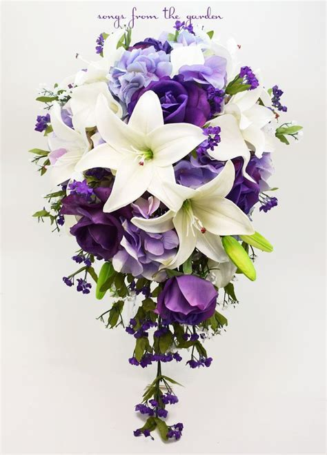 Best 25  Purple wedding bouquets ideas on Pinterest