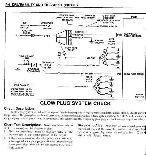 95 gmc glow relay wiring diagram l3010 glow