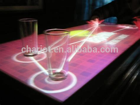 interactive bar top chariottech top interactive bar table projection for