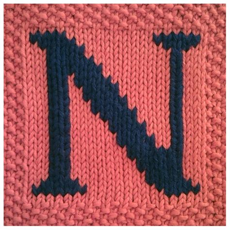 Knitting Pattern Letters | pdf knitting pattern capital letter n afghan by fionakelly