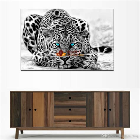 5 plane abstract leopards modern home decor wall art 2017 hot sell canvas prints abstract leopards painting
