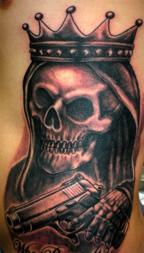 skull gun tattoo designs 20 gun tattoos designs ideas magment