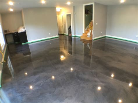 Ideas Paint Metallic Epoxy Basement Floor Jeffsbakery Painting Basement Floor Ideas