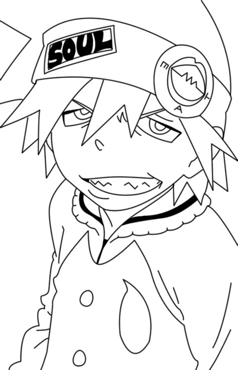 Soul Eater Evans Lineart By Behzadvf On Deviantart Soul Eater Coloring Pages