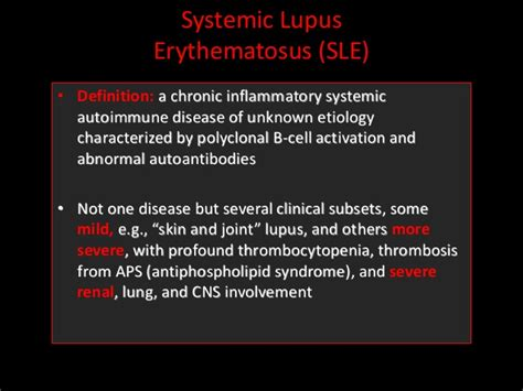 systemic lupus erythematosus sle pathophysiology and