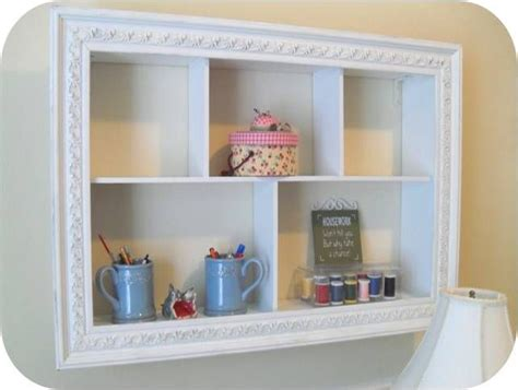shabby chic diy picture frame white paint boards