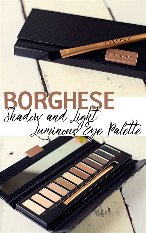 shadow and light palette borghese eclissare color eclipse shadow light luminous