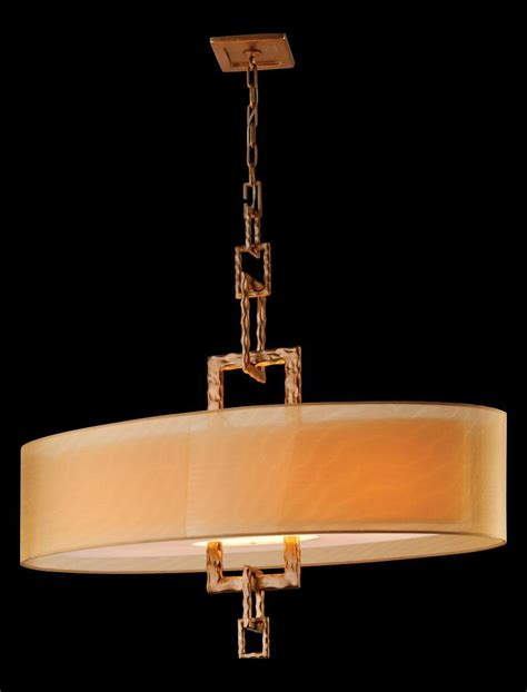 Drum Shade Island Lighting Troy Four Light Bronze Leaf Drum Shade Island Light Bronze Leaf F2878 From Link Collection