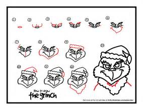 Grinch drawing template best photos of easy christmas drawings grinch