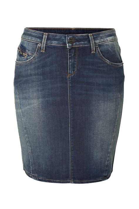 true religion elly jean skirt in bliston blue in