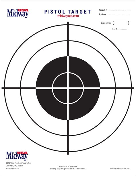 printable targets midway printable target collection