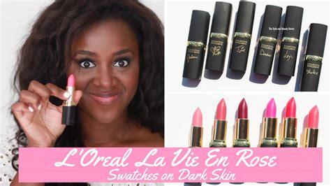 Lipstik L Oreal La Vie En l oreal la vie en lipstick swatches on skin swatchesinseptember