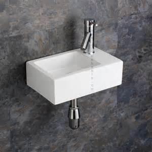 Small Shelves For Bathroom - taranto hung small cloakroom basin inc tap and plug